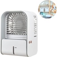 Zqyrlar - Mini air conditioner mobile air cooler / humidifier / USB fan with water tank and adjustable speeds Air Cooler, Air Conditioner for home