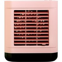 Asupermall - Mini Air Cooler Home Use USB Rechargeable Water Cooling Fan Portable Desktop Anion Air Conditioner Fan,model:Pink