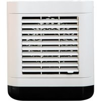 Asupermall - Mini Air Cooler Home Use USB Rechargeable Water Cooling Fan Portable Desktop Anion Air Conditioner Fan,model:White