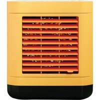 Asupermall - Mini Air Cooler Home Use USB Rechargeable Water Cooling Fan Portable Desktop Anion Air Conditioner Fan,model:Yellow