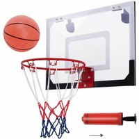 Costway - Mini Canestro da Basket, Dotato di Pallacanestro e Pompa a Mano Dimensioni:45 x 30 cm, Diametro del Cerchio: 22cm