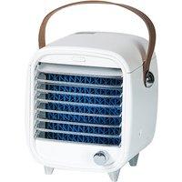 Mini Desktop Air Conditioner Fan Portable Air Purification Noiseless Evaporative Air Humidifier Purifier Mini Cooling Fan, Stepless Regulation of