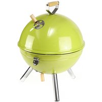 Mini Grill Charcoal Ball Barbecue with Functional and Practical Cover Easy to Mount 30x40cm Mohoo