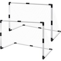 Mini Soccer Goals Post Net 2 pcs for Kids 91.5 x 48 x 61 cm