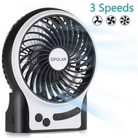 Betterlifegb - Mini Table Fan, USB Fan Personal Office Portable Rechargeable Battery Silent 2600mAh 3 Speeds Powerful Wind For Kitchen Home Travel