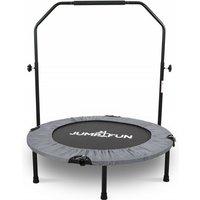 Mini Trampoline Fitness Pliable Double-Bar - Ø92cm - Gris - Jump4fun