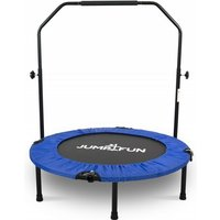 Mini Trampoline Fitness Pliable Double-Bar - Ø92cm - Bleu - Jump4fun