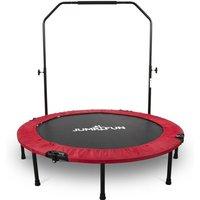 Mini Trampoline Fitness Pliable Double-Bar - Ø122cm, Rouge - Jump4fun