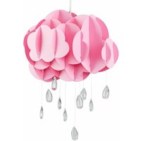 Pink Layered Rain Cloud Ceiling Pendant Light Shade with Acr