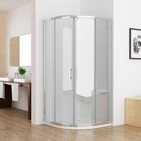 900x900 Offset Quadrant 6mm Sliding Door Nano Easyclean Glass Shower Enclosure Corner Cubicle 900x900 No Tray - Miqu
