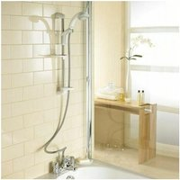 Mira Extra Thermostatic Bath Shower Mixer White and Chrome - MIRA SHOWERS