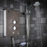 Mira Galena Electric Shower - 9.8kW Slate Effect