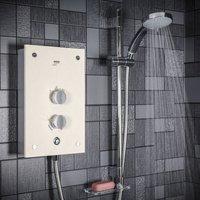 Mira Galena Electric Shower - 9.8kW Light Stone Effect
