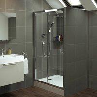 Mira Leap 1200x800mm Single Sliding Door Shower Enclosure Easy Plumb Tray Waste