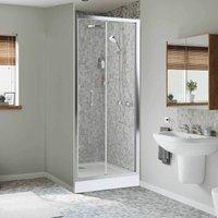 Mira Leap 760 x 760mm Bi-Fold Shower Door Enclosure Easy Plumb Tray FREE Waste