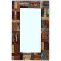 Youthup - Mirror Solid Reclaimed Wood 80x50 cm