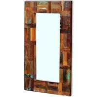 Asupermall - Mirror Solid Reclaimed Wood 80x50 cm