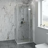 Austin premium 8mm hinged easy clean shower enclosure 1200 x 800 - Mode