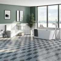 Carter complete freestanding bath suite with taps and wastes - Mode
