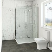 Mode Cooper 8mm hinged shower enclosure with stone tray 900 x 900