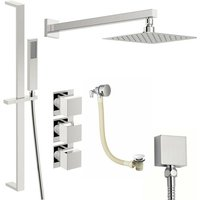 Cooper thermostatic shower valve with complete wall shower bath set 250mm - Mode