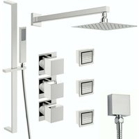 Cooper thermostatic shower valve with complete wall shower set 250mm - Mode