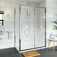 Hardy 8mm easy clean shower enclosure and stone shower tray 1600 x 800 - Mode