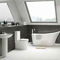 Hardy bathroom suite with freestanding bath and taps - Mode