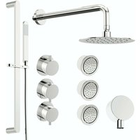 Mode Hardy thermostatic shower valve with complete wall shower set 250mm
