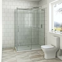Harrison 8mm easy clean rectangular shower enclosure with stone tray 1400 x 900 - Mode