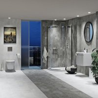 Mode Harrison complete wall hung suite with taps, shower and wastes 800 x 800