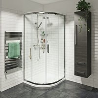Tate 8mm quadrant shower enclosure 900 x 900 with cool touch thermostatic mixer shower - Mode