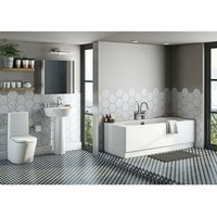 Mode Tate bathroom suite with contemporary double ended bath 1700 x 700