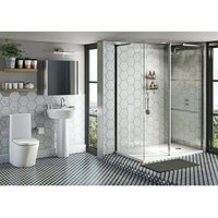 Tate ensuite suite with enclosure and tray 1400 x 900 - Mode