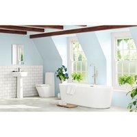 Mode Tate luxury bathroom suite with freestanding bath 1780 x 800