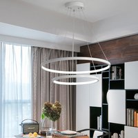 Modern 2 Circle Shape LED Chandelier Ceiling Light , 40+60CM Cool White