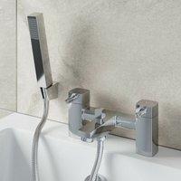 Architeckt - Modern Bathroom Bath Shower Mixer Tap Brass Square Shower Handset Hose Chrome