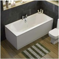 Modern Bathroom Double Ended 1700 x 750mm Curved Bath Side End Panel White