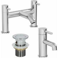 Modern Bathroom Mono Basin Mixer Bath Filler Tap Set Basin Waste - ARCHITECKT