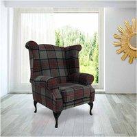 Designer Sofas 4 U - Modern Chesterfield Edward Wool Tweed Wing chair | DesignerSofas4U