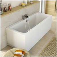 Modern Double Ended 1700 x 750mm Square Bath Side End Panel Acrylic White