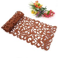 Bearsu - Modern Minimalist Table Runner Rectangle Shape Felt Tablecloth Runner Placemats 7 Colors Table Mats Household Kitchen Decoration Hotel