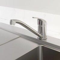 Modern Monbloc Kitchen Sink Mixer Tap Single Lever Swivel Spout Chrome Faucet