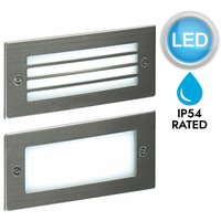 First Choice Lighting - Stainless Steel LED Outdoor Brick Light