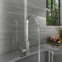 Modern Swivel Spout Solid Brass Tap Single Lever Kitchen Sink Mixer Faucet