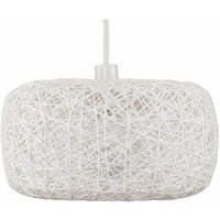 Easy Fit Rattan Lounge Living Room White Ceiling Pendant Shade - No Bulb