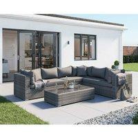 Rattan Direct - Monaco Rattan Garden Lefthand Corner Sofa Set in Grey