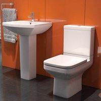 Montpellier Bathroom Toilet WC Basin Cloakroom Suite Close Coupled Soft Close