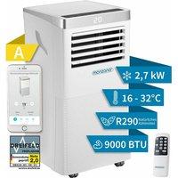 Air Conditioner MZKA1000 WiFi App Portable 5in1 Portable Air Conditioning Unit Remote Control Dehumidifier 9000 BTU Sleep Timer Heater - Monzana