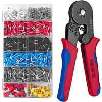 Crimper Plier Set 1200 Wire Ferrules AWG 23-7 In Box Crimping Tool Kit - Monzana